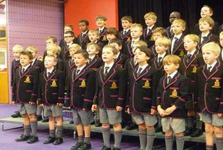 Year 2 Students performing at Grandparents' Day 2014.