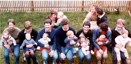 1983 team photo with the next generation!