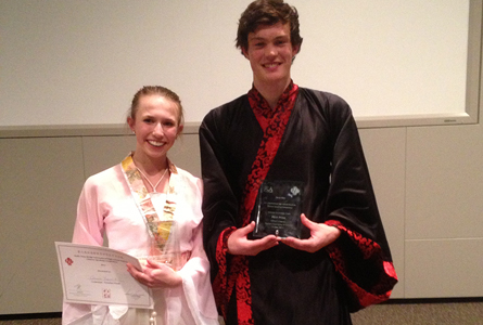 Daniel Larratt at the National Chinese Competition.
