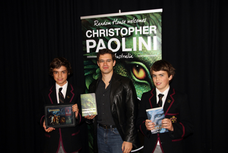 Christopher Paolini's visit to Hutchins was received with great excitement.