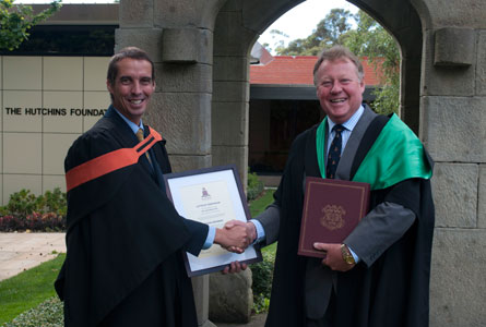 Headmaster Mr Warwick Dean and newly-Commissioned Deputy Headmaster Mr Alan Jones.
