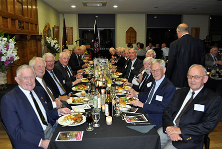 Old Boys from 1948-1957 at the Reunion Dinner.