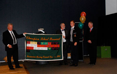 Presentation of the Schools Pennant by His Excellency, the Honourable Peter Underwood, Governor of Tasmania.