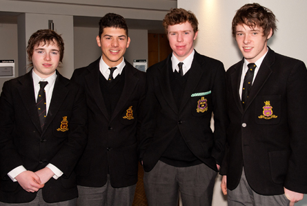 Basi Thomas-Wilson, Thomas Tsiakis, Josh Symonds and Calum Mitchell.