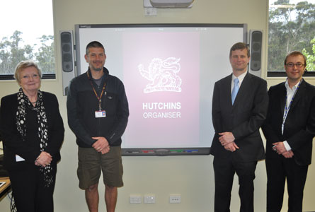 Director of Information Services Dr Jill Abell, Year 9 Co-ordinator Mr Ken Kingston, Information Technology Network and Development Manager Mr Ian MacRae and developer Robert Gowty from GetBusi.