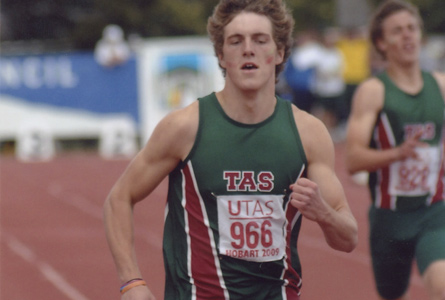 Max to represent Australia - here winning gold in the National Championships in 2009.