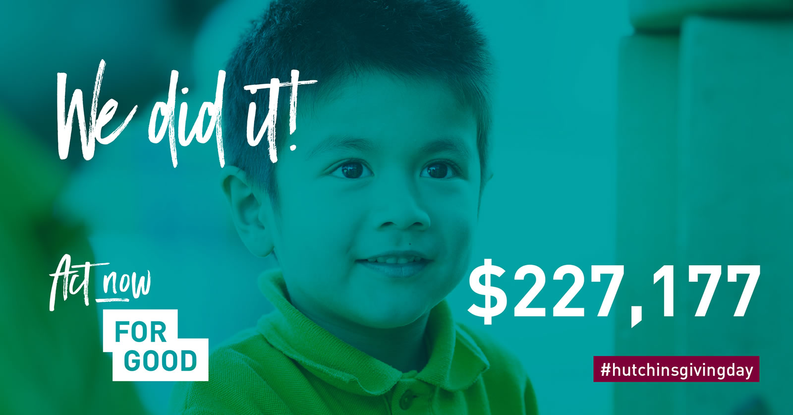 We did it! $227,177 raised.