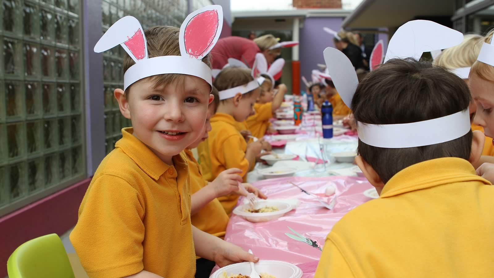 Pre-Kinder and Kinder Long Table Easter Lunch
