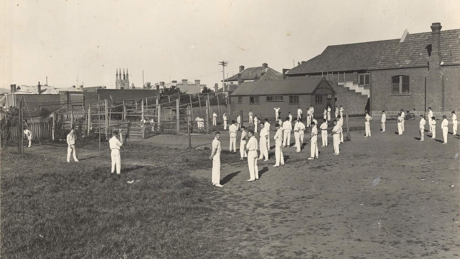 1929 cricket practice at Macquarie Street