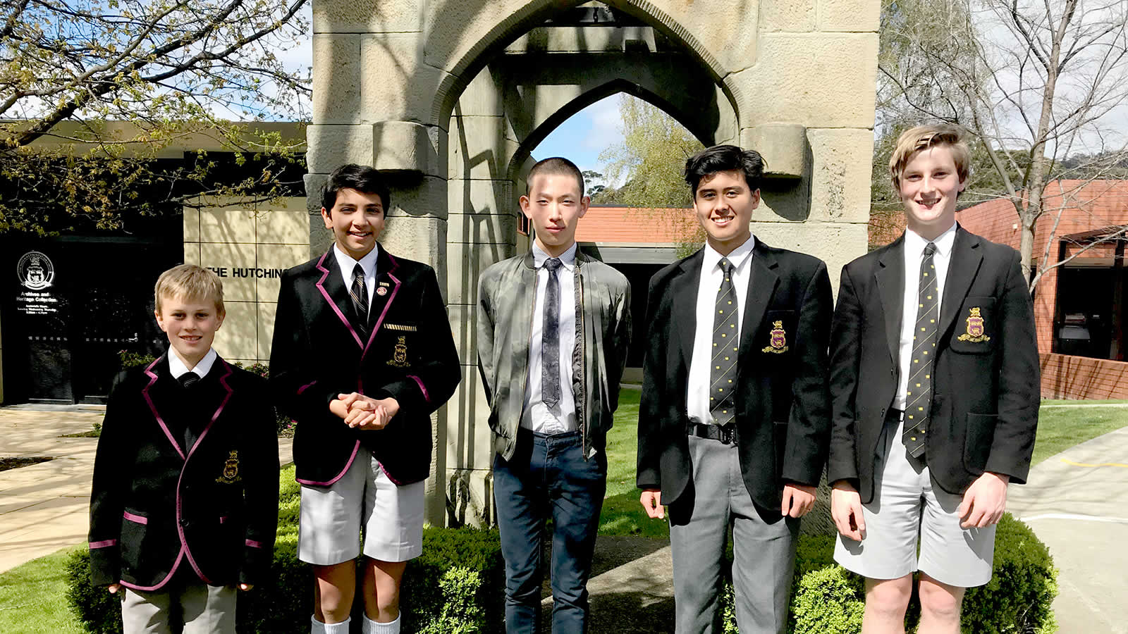 Darcy Sillifant, Jeff Roy-Chowdhury, Mr Xiaoji Xie (Chinese Assistant), Rhys Evans, Matthew Goldsmith.