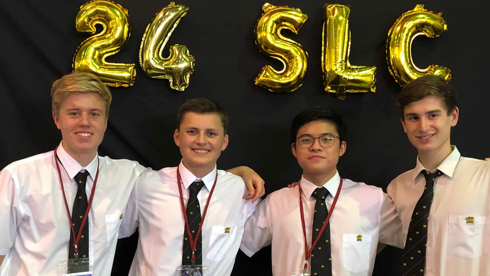 Year 11 students Luca Gentile, Jackson Coad, Johnathan Lau and Robert Elkerton.