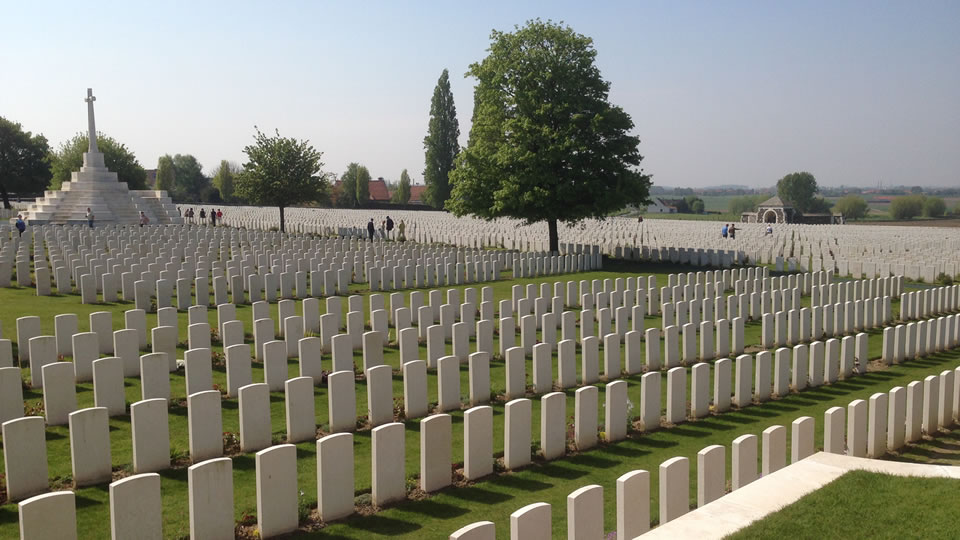 Tyne Cot Commonwealth War Graves Cemetery, Belgium.