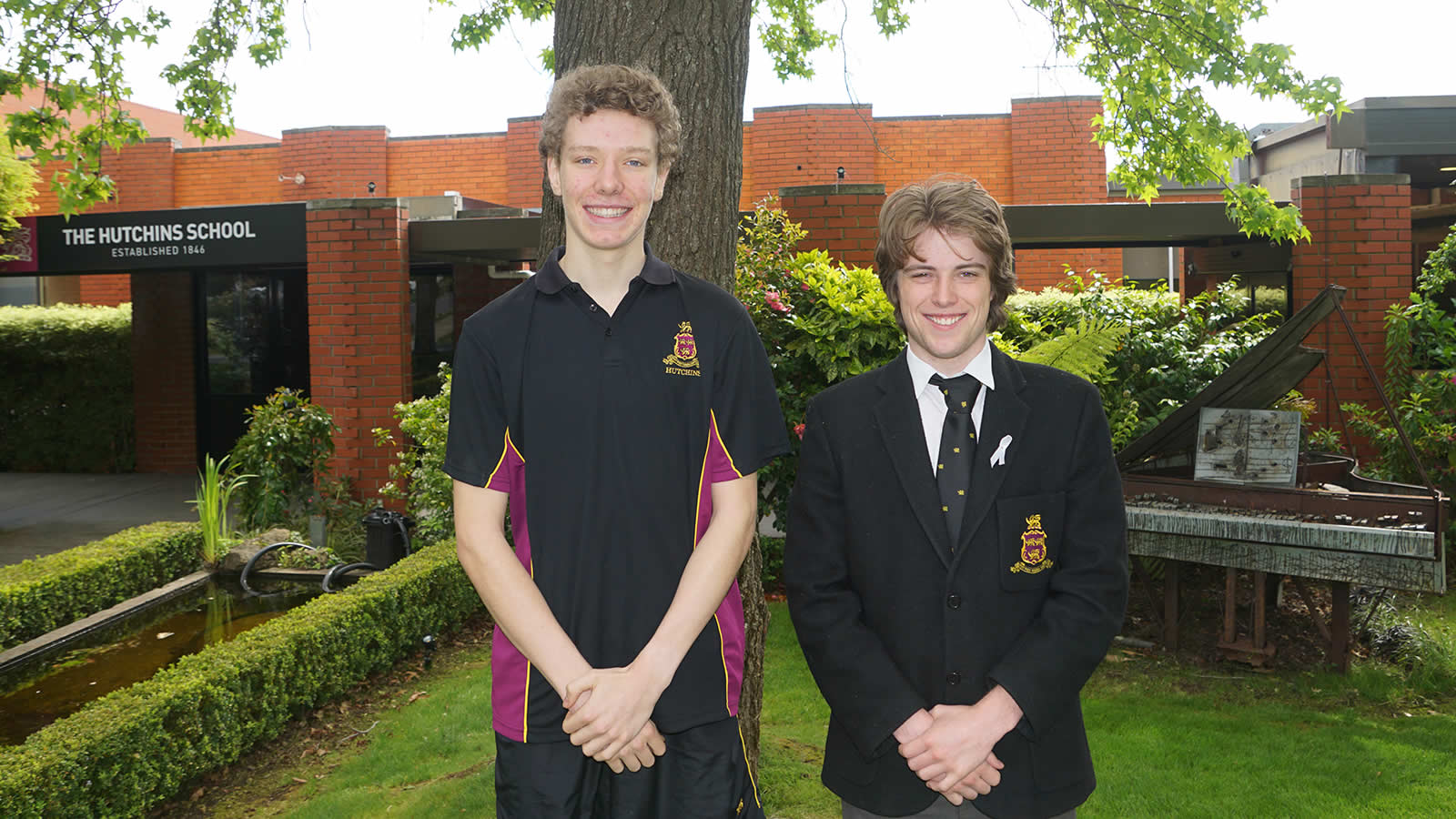 L–R James Rolls (Year 10) and Isaac Traill (Year 12).