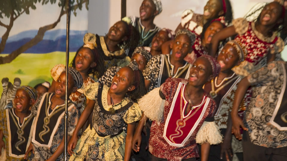 The Watoto Choir performs at The Hutchins School Chapel
