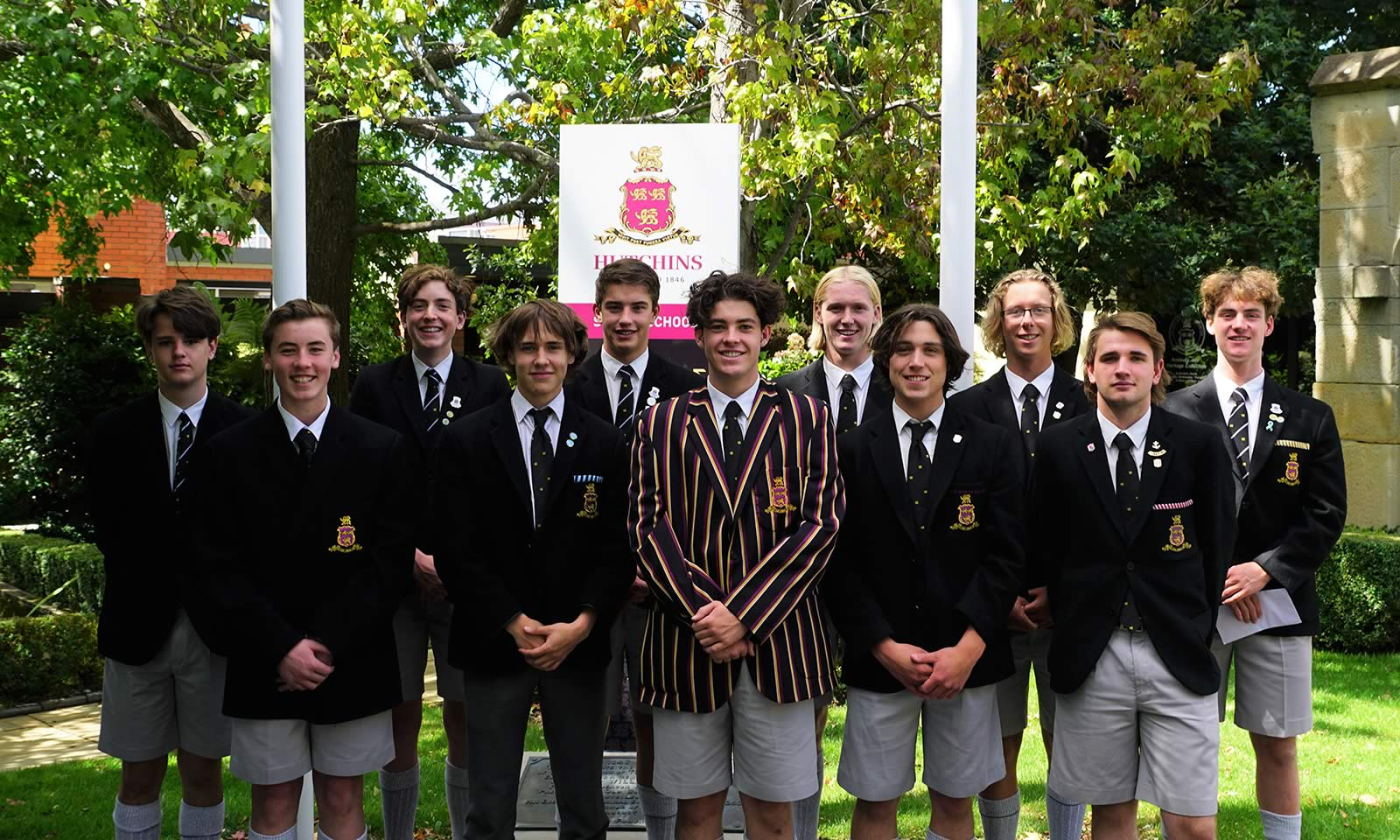2021 Co-Curricular Captains with School Whip, Ailbe Bourke (Year 12)