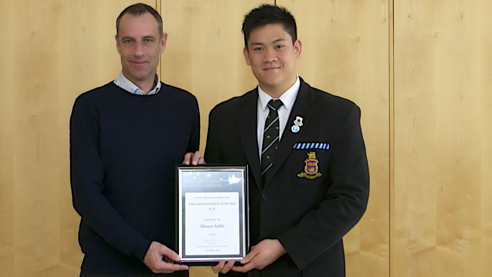 News - Hutchins student and teacher awarded top prizes by Study Tasmania