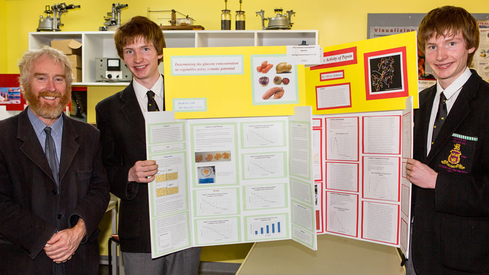 Year 12 students Hugh and Oliver Johnson both won 'Best Investigation' awards for their respective projects.