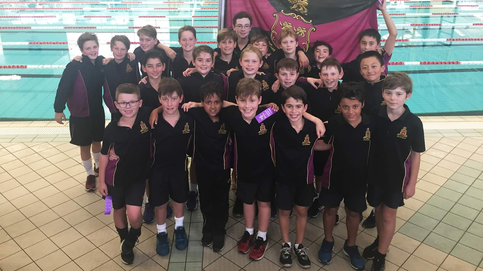 The Hutchins Junior School Swimming Team