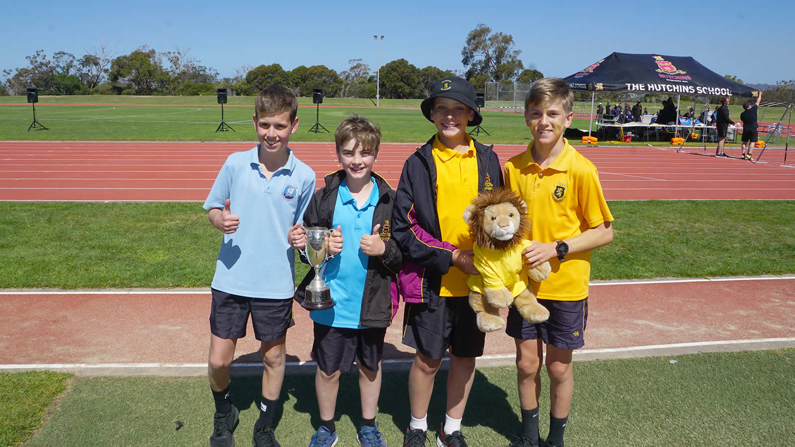 School House Captain William Bovill and Matthew Zeeman. Stephens House Captain Lachlan Browne and Sam Essex.