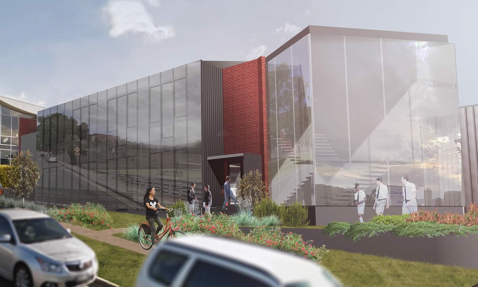 Artist's impression of the Middle School extension