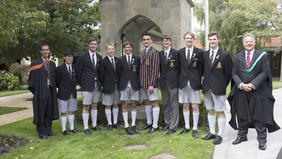 Prefects inducted at Headmaster's Assembly 11 March 2015