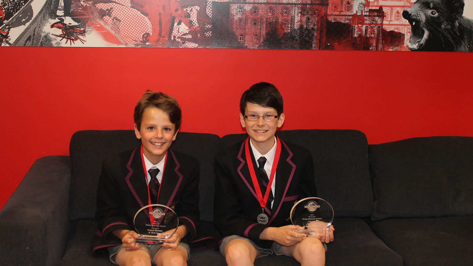 Angus Christie and Jack Carr, National History Challenge winners (large)