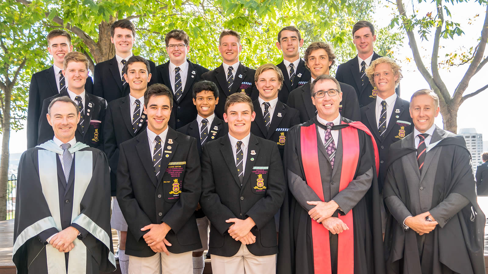 Captains and Prefects inducted at the first Headmaster's Assembly 2017 (large)