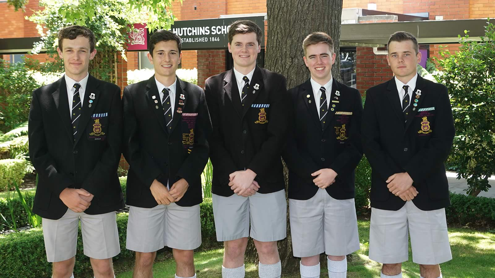 Students who received ATAR scores placing them in the top 1% of the state. Harrison Evans, James Tucker, Matthew Burgess, Thomas Young and Angus Szoke. Absent – Thomas Dunbabin and Luke West.