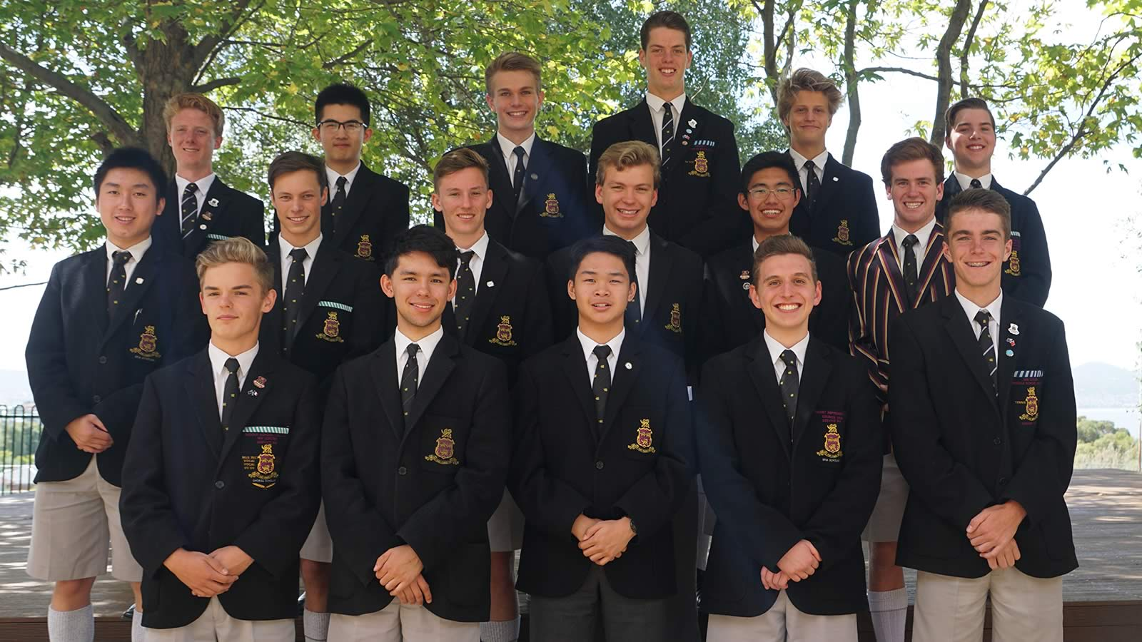 2018 Captains of Co–curricular. Absent – Hugh Jubb and Joseph Bailey.