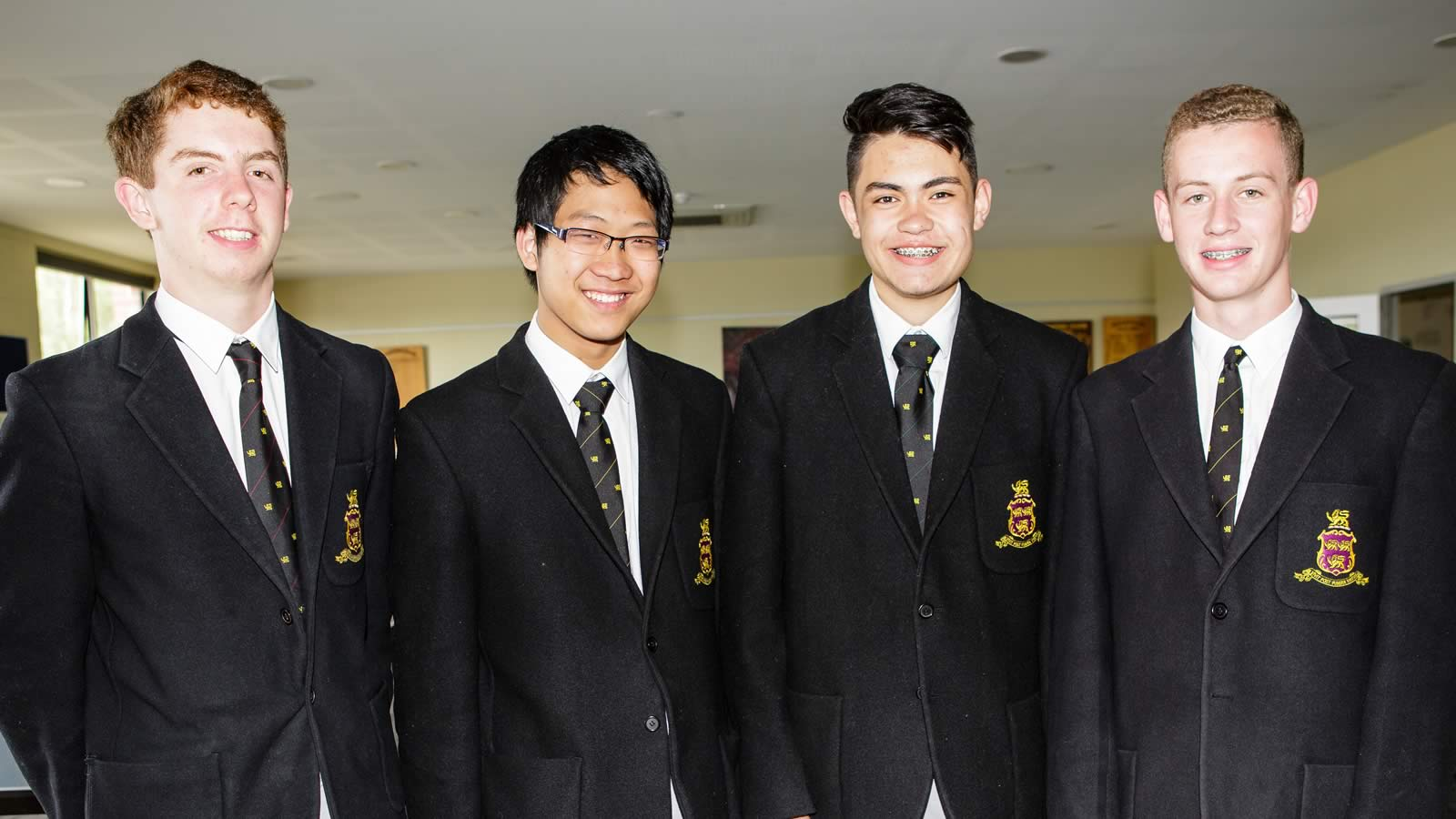 L–R James Moroney, Robert Jiang, Peter Mercado and Harrison Wallace (large)