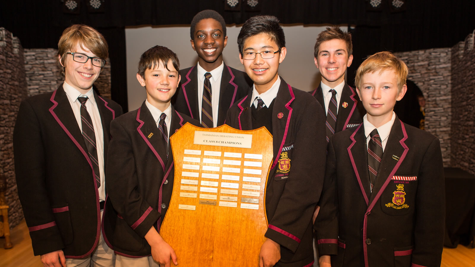 Year 8 Debating Team (Tasmanian Debating Union Champions 2014). (large)
