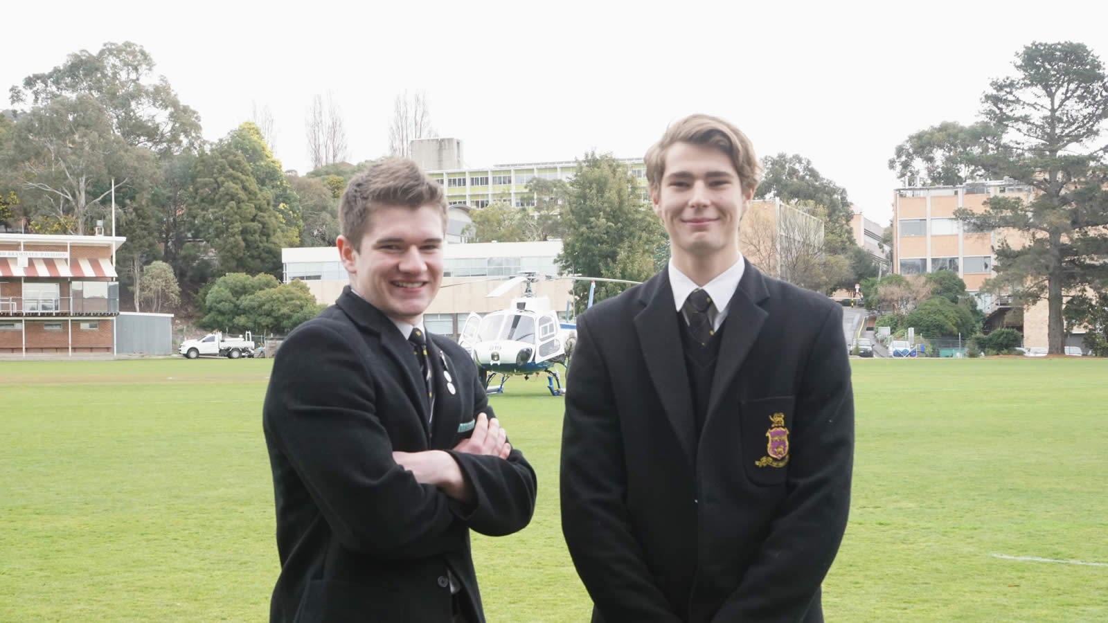 Year 12 students Thomas Bester and Timothy Summerfield.