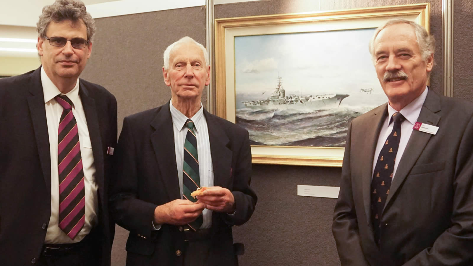 Professor Marcus Haward (Chairman of The Hutchins School Board), Mr John Brettingham-Moore and Mr Ian Johnston (President of The Hutchins Foundation).