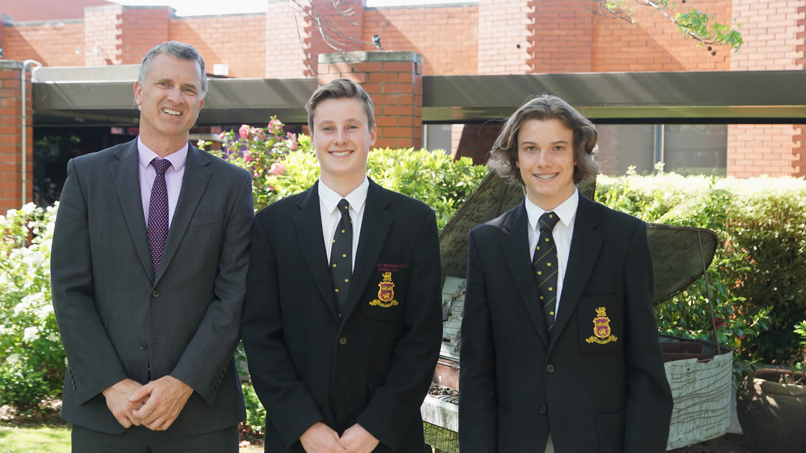 Teacher – Mr Garry Way with Year 10 students – Alex Smith and Alex Stephens