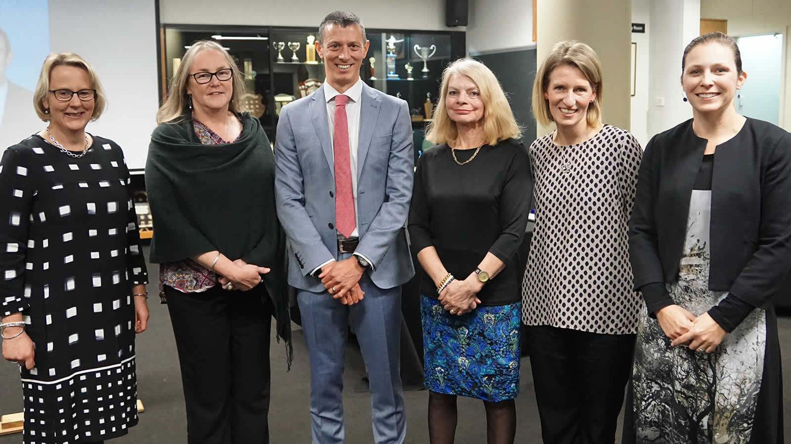 Mrs Susan Hall, Ms Leanne Weeks, Mr Matt Groves, Mrs Lee Burman, Mrs Sarah Fielding and Mrs Bec Terry. Absent Mr Ken Kingston, Mr Scott Cashion and Mr Cameron Hudson.
