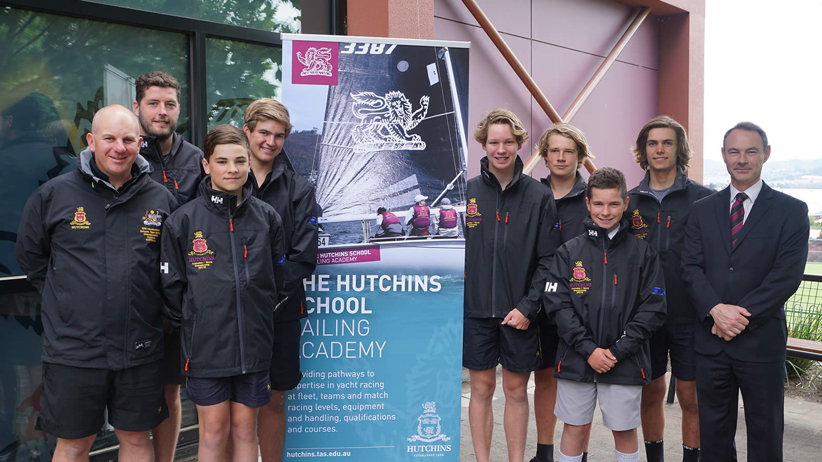 Mr Greg Rowlings, Mr Robbie Tuck,  Howard Tapping (Year 8), Jack Allison (Year 8), Finn McLagan (Year 9), Oliver Hugo (Year 7), Charles Zeeman (Year 9) and Dr Rob McEwan. Absent – Benjamin Boman (Year 8).