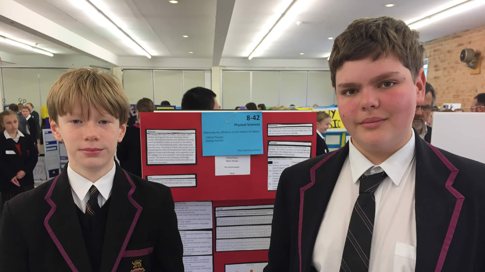 Year 8 students Callum Parssey and Dashan Forrest