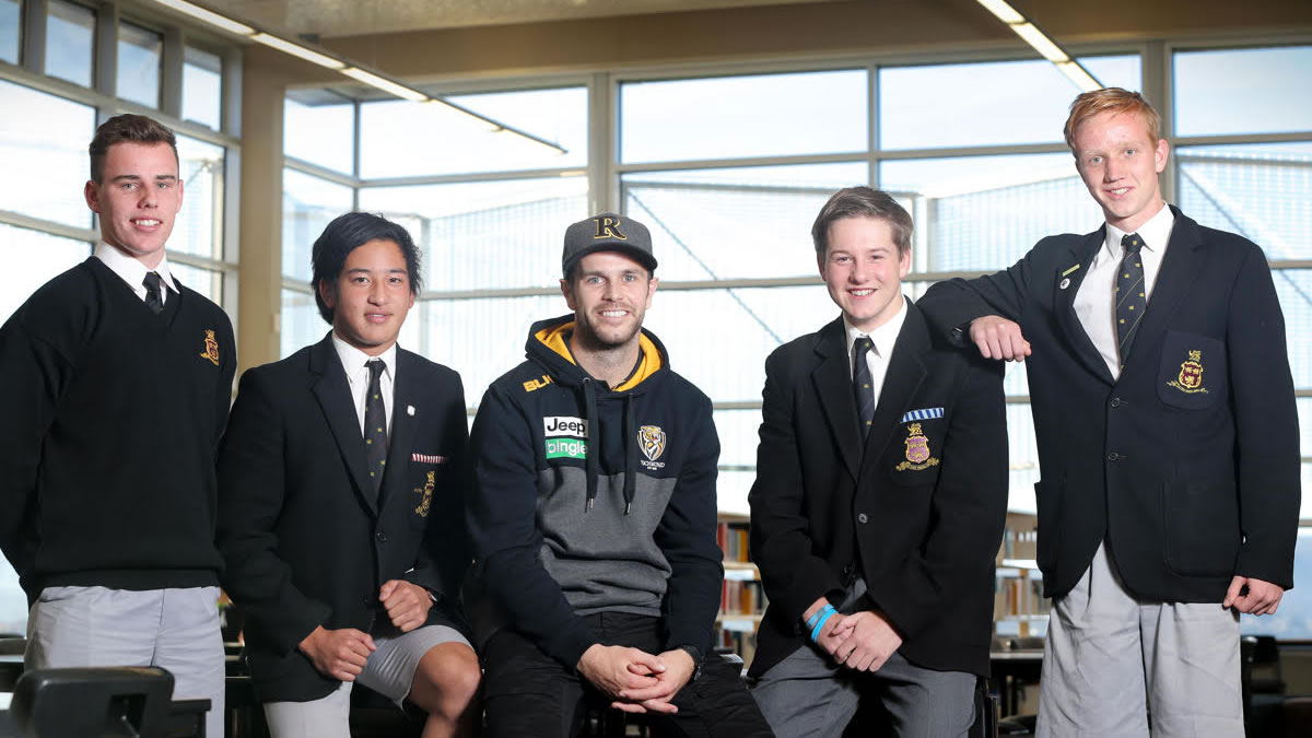 Visit from Richmond Football Club Captain Trent Cotchin (large)