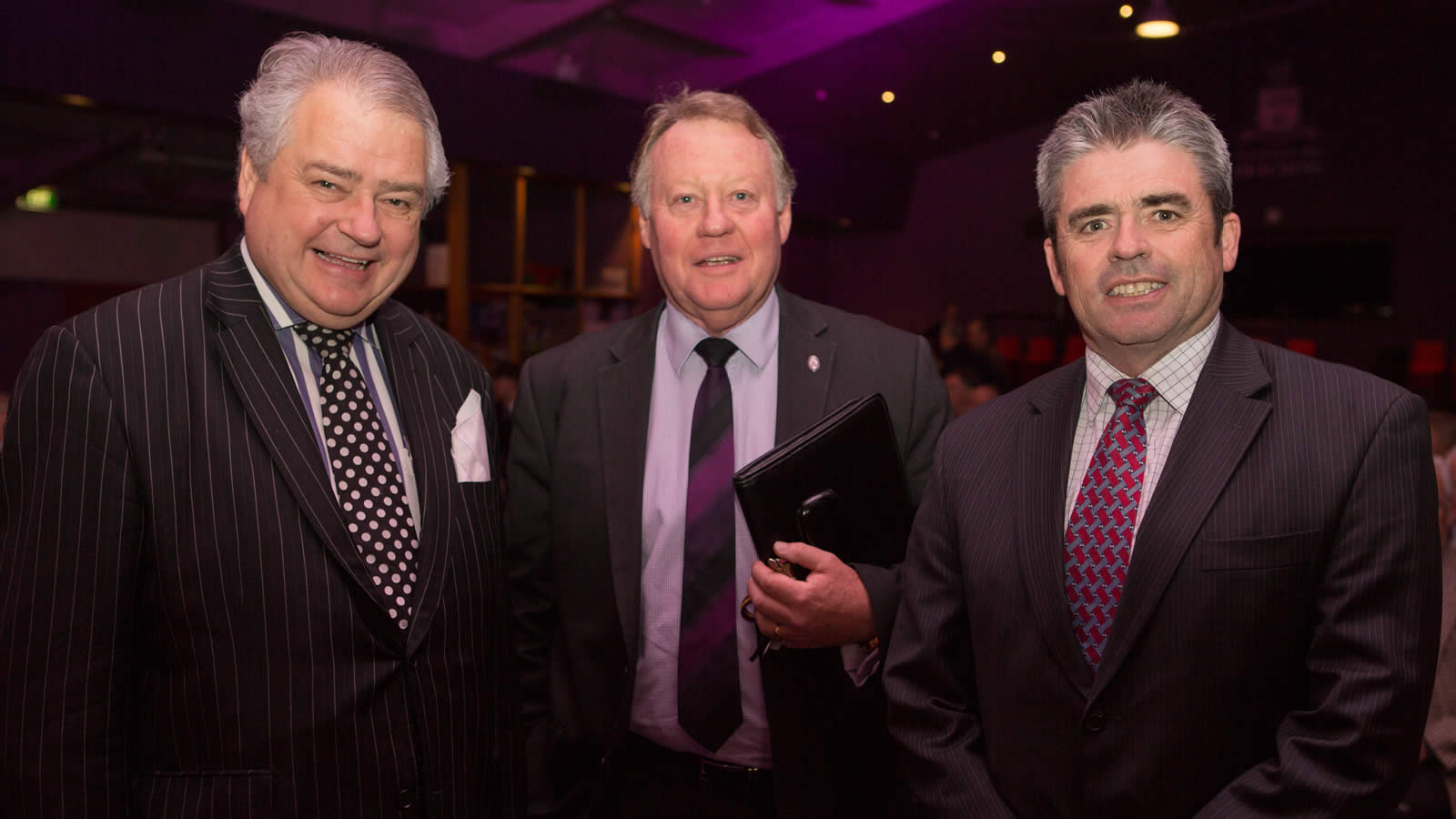 Dr Keith Suter, Headmaster Mr Warwick Dean and Chairman of the Board Mr David Morris. Photo courtesy of Barrie Irons. (large)