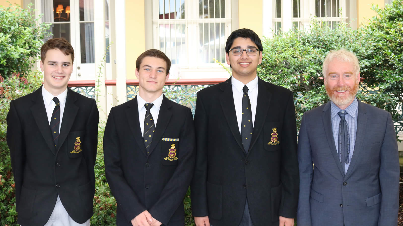 Year 10 students Brendan Heatley-Hart, Raiden Lemon, Sudhaunshu Hardikar and Mr Peter Crofts (Head of Faculty)