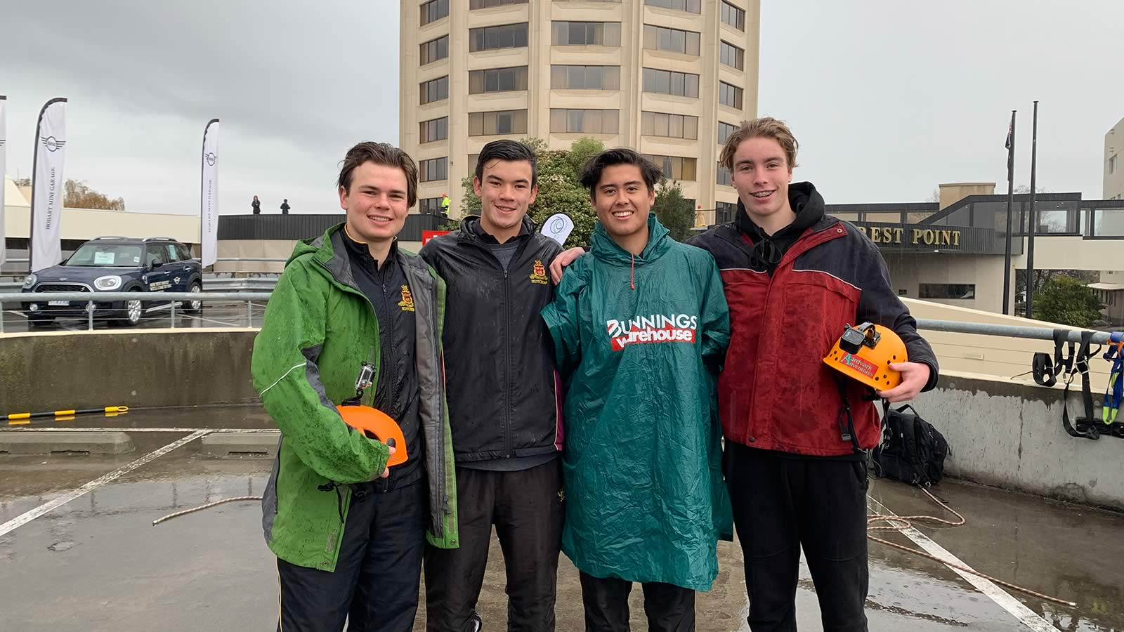 Year 12 Prefects Martyn Szoke, Oliver Burrows-Cheng, Rhys Evans and Billy Blackett.