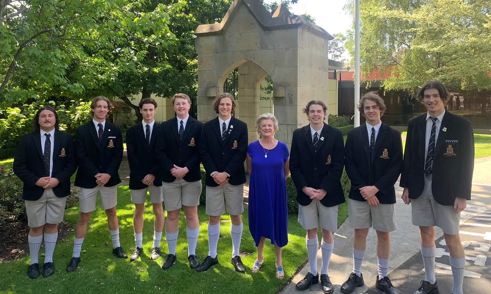 Year 12 students that have attended since Kindergarten with Mrs Judy Smith