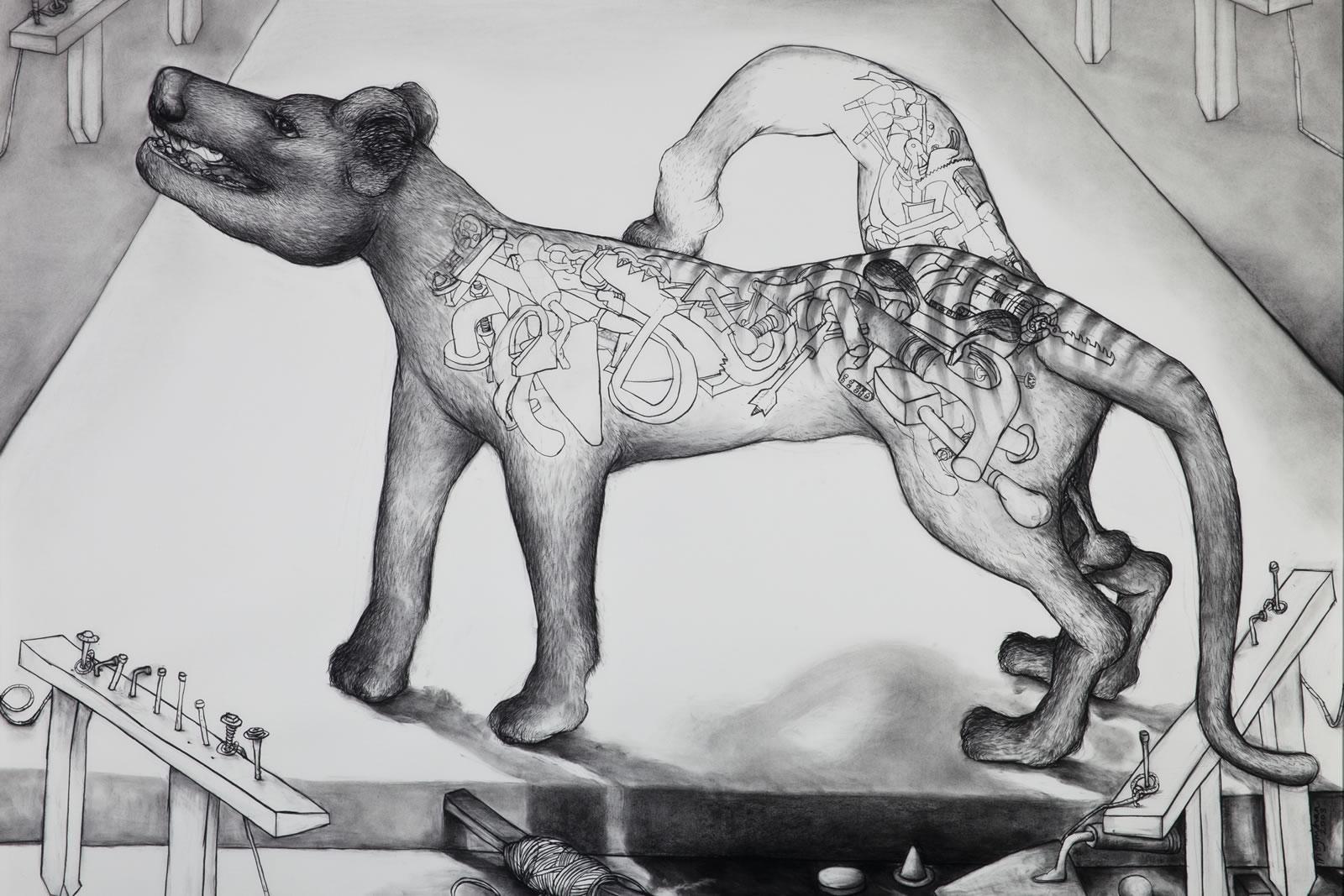 2003 Winner of The Hutchins Art Prize - Daniel Moynihan - Celtic Tool Tiger