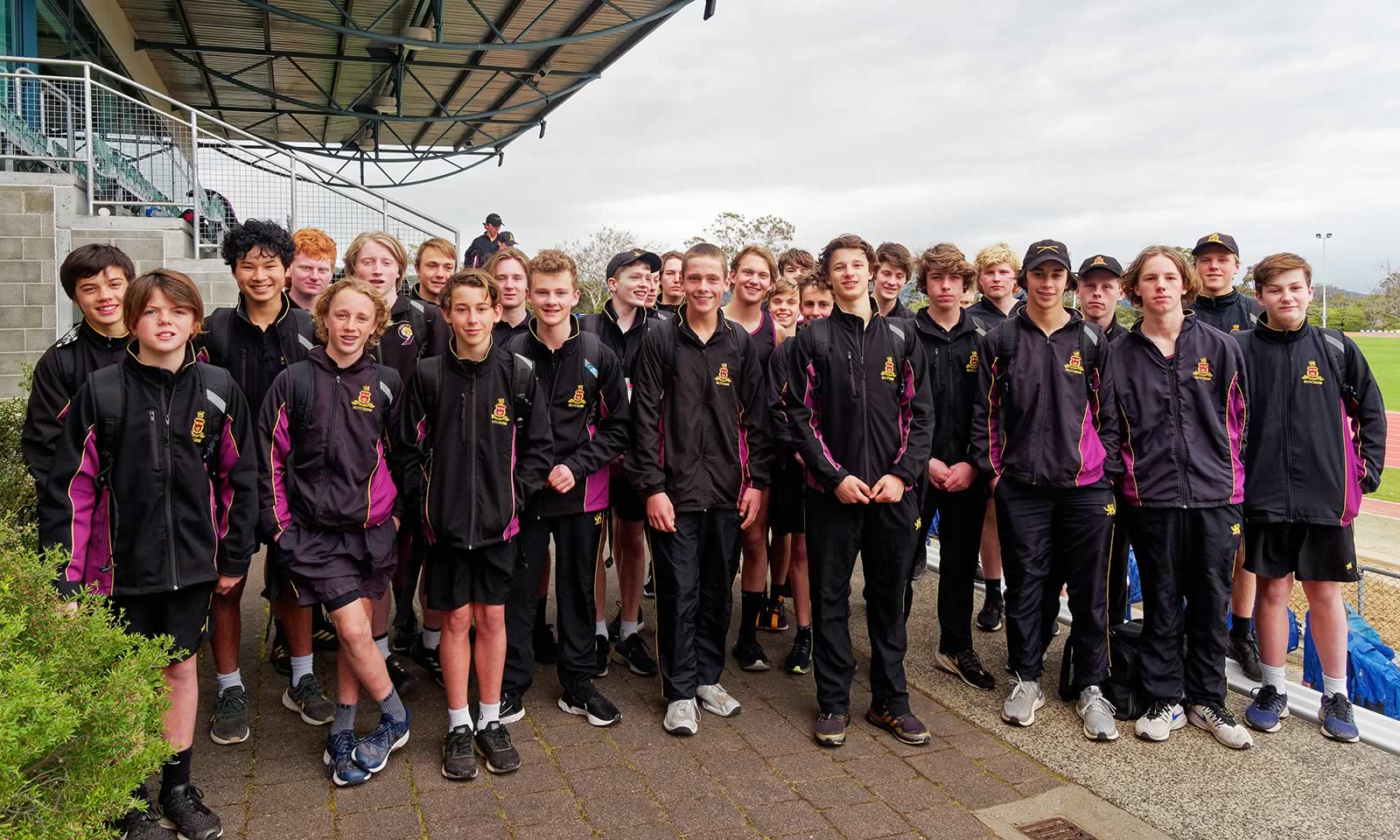 U14 and U16 boys at the SSATIS Athletics Carnival